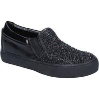 Scarpe Donna Slip on Sara Lopez scarpe donna  slip on nero tessuto strass BY240 Nero