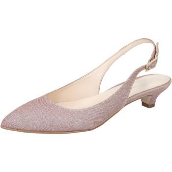 Scarpe Donna Sandali Olga Rubini scarpe donna  sandali rosa tessuto BY275 Rosa