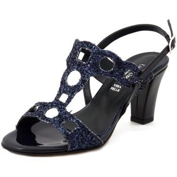 Scarpe Donna Sandali Linea Uno Sandalo blu