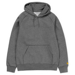 Abbigliamento Uomo Felpe Carhartt Carhartt - Felpa Hooded Chase - Dark Gray Heather/Gold Multicolore