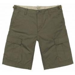 Abbigliamento Uomo Shorts / Bermuda Carhartt Wip Carhartt - Pantaloncini Aviation Short - Cypress Rinsed Verde