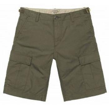 Abbigliamento Uomo Shorts / Bermuda Carhartt Work In Progress Carhartt Pantaloncini Aviation Short - Cypress Rinsed Verde