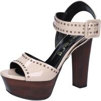 Scarpe Donna Sandali Olga Rubini scarpe donna  sandali beige vernice borchie BY316 beige