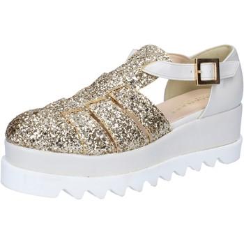 Scarpe Donna Sandali Olga Rubini sandali platino glitter pelle BY337 Altri