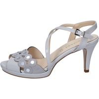 Scarpe Donna Sandali Olga Rubini sandali grigio vernice camoscio BY358 Grigio