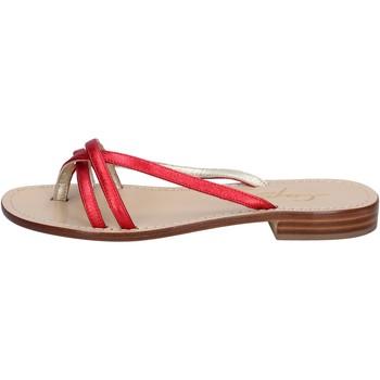 Scarpe Donna Sandali Soleae sandali rosso pelle BY501 Rosso