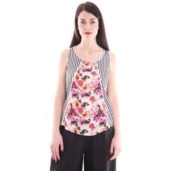 Abbigliamento Donna Top / T-shirt senza maniche Imperfect CANOTTA FANTASIA FLOREALE Multicoloured