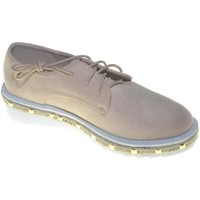Scarpe Donna Derby Malu Shoes Francesina donna stringata con suola in gomma micro e borchie la ROSA
