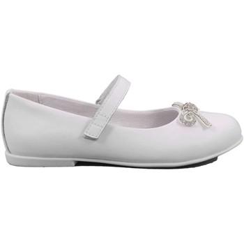 Scarpe Bambina Ballerine Mazzarino 20 - 30022F-1-A Ballerina Cerimonia Bambina Bianco Bianco