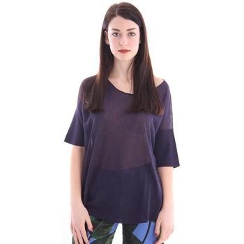 Abbigliamento Donna T-shirt maniche corte White.7 MAGLIA BLU MELANGE Blue