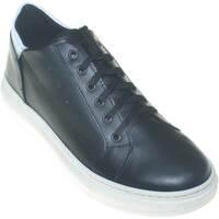 Scarpe Uomo Sneakers basse Made In Italia Sneakers bassa uomo bicolore nero bianco  vera pel NERO