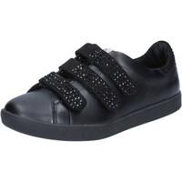 Scarpe Donna Sneakers basse Liu Jo scarpe donna  sneakers nero pelle camoscio BY639 Nero