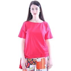 Abbigliamento Donna T-shirt maniche corte Seventy T-SHIRT ROSSA IN COTONE CON FIOCCO Red