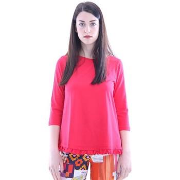 Abbigliamento Donna T-shirts a maniche lunghe Seventy T-SHIRT ROSSA IN COTONE CON ROUGE Red