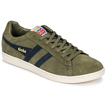 Scarpe Uomo Sneakers basse Gola Equipe Suede Kaki / Marine