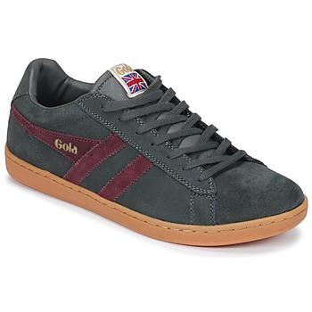 Scarpe Uomo Sneakers basse Gola Equipe Suede Grigio / Bordeaux