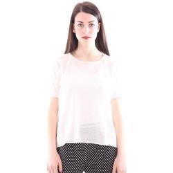 Abbigliamento Donna T-shirt maniche corte Seventy TWIN SET BIANCO IN COTONE T-SHIRT CANOTTA White