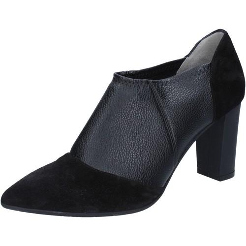 Le Marrine scarpe donna tronchetti stivaletti nero pelle camoscio BY732 Nero - Scarpe Stivaletti Donna 45,00