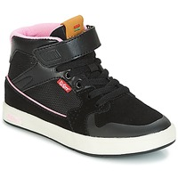 Scarpe Bambina Sneakers alte Kickers GREADY MID CDT Nero / Rosa