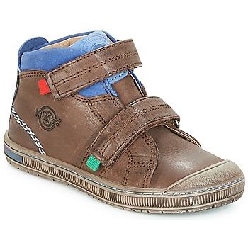 Scarpe Bambino Sneakers alte Kickers IGUTO Marrone