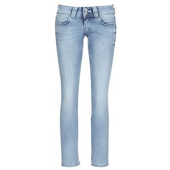 Abbigliamento Donna Jeans dritti Pepe jeans VENUS Blu / Clair
