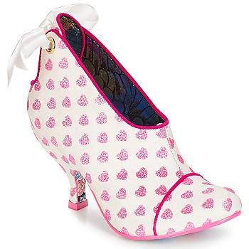Scarpe Donna Tronchetti Irregular Choice Love is all around Bianco / Rosa