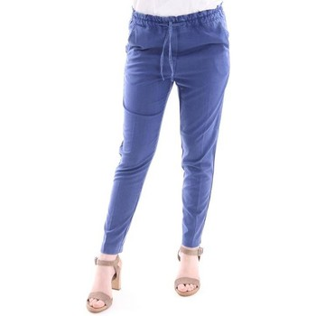 Abbigliamento Donna Pantaloni Myths PANTALONE  BLU ROYAL MODELLO JOGGING Blue