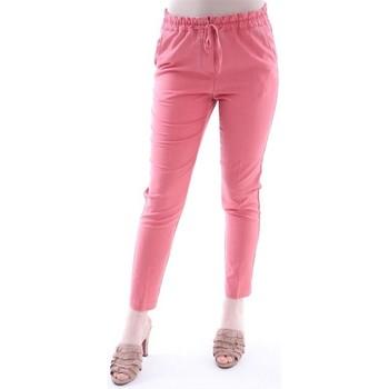 Abbigliamento Donna Pantaloni Myths PANTALONE  ROSA MODELLO JOGGING Pink