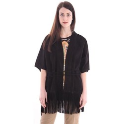 Abbigliamento Donna Gilet / Cardigan La Reveuse GIACCA OVER  IN CAMOSCIO NERO Black