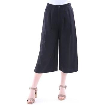 Abbigliamento Donna Pantaloni morbidi / Pantaloni alla zuava Colour 5 Power PANTALONI COLOR 5 POWER NERO MODELLO CAPRI AMPIO Black