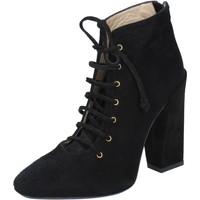 Scarpe Donna Stivaletti Gianni Marra scarpe donna  stivaletti tronchetti nero camoscio BY757 Nero