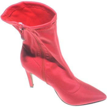 Scarpe Donna Tronchetti Malu Shoes Tronchetto alto rosso a punta calzino in elastene modello bale ROSSO