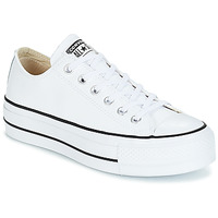 Scarpe Donna Sneakers basse Converse CHUCK TAYLOR ALL STAR LIFT CLEAN OX LEATHER Bianco
