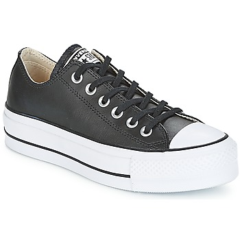 Scarpe Donna Sneakers basse Converse CHUCK TAYLOR ALL STAR LIFT CLEAN OX LEATHER Nero / Bianco