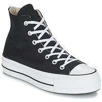 Scarpe Donna Sneakers alte Converse CHUCK TAYLOR ALL STAR LIFT CANVAS HI Nero
