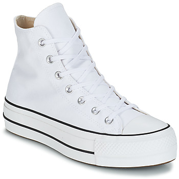 Scarpe Donna Sneakers alte Converse CHUCK TAYLOR ALL STAR LIFT CANVAS HI Bianco