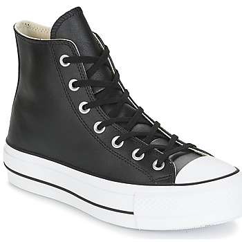 Scarpe Donna Sneakers alte Converse CHUCK TAYLOR ALL STAR LIFT CLEAN LEATHER HI Nero