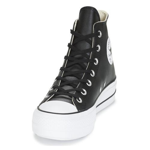 Converse Chuck Taylor All Star Lift Clean Leather Hi Nero - Consegna Gratuita- Scarpe Sneakers Alte Donna 9499