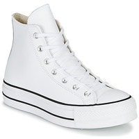Scarpe Donna Sneakers alte Converse CHUCK TAYLOR ALL STAR LIFT CLEAN LEATHER HI Bianco