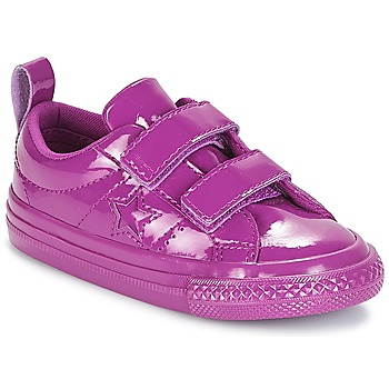 Scarpe Bambina Sneakers basse Converse ONE STAR 2V SYNTHETIC OX Viola