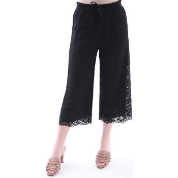 Abbigliamento Donna Pinocchietto White.7 FIT PANTALONE NERO IN PIZZO SAN GALLO Black