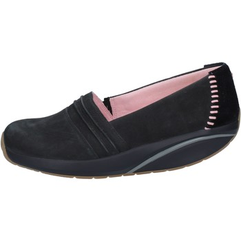 Scarpe Donna Slip on Mbt scarpe donna  slip on mocassini nero nabuk camoscio BY973 Nero