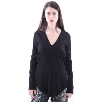 Abbigliamento Donna T-shirt & Polo White.7 T-SHIRT FIT NERA MODELLO MORBIDO Black