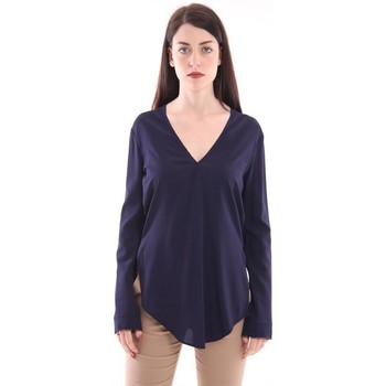 Abbigliamento Donna T-shirt & Polo White.7 T-SHIRT FIT BLU MODELLO MORBIDO Blue