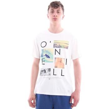 Abbigliamento Uomo T-shirt & Polo O'neill T-SHIRT BIANCA STAMPE FOTOGRAFICHE White