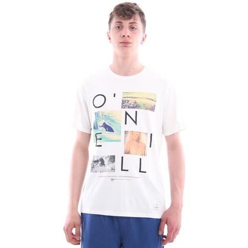 O O O Neill T-SHIRT bianca STAMPE FOTOGRAFICHE bianca - Consegna gratuita   Spartoo    - Abbigliamento T-shirt & Polo uomo 28,58 a69