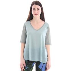 Abbigliamento Donna T-shirt maniche corte White.7 MAGLIA GRIGIA CON SCOLLO A V Grey