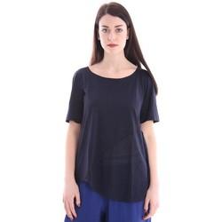 Abbigliamento Donna Top / Blusa White.7 T-SHIRT BLU CON SCOLLO A BARCA Blue