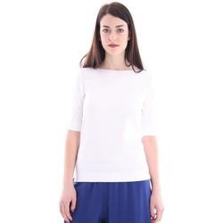 Abbigliamento Donna Top / Blusa White.7 T-SHIRT BIANCA CON SCOLLO A BARCA White