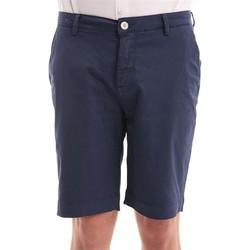 Abbigliamento Uomo Shorts / Bermuda Yan Simmon BERMUDA  BLU IN COTONE STRETCH Blue